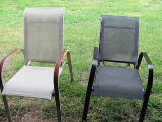patio lawn chair spray paint makeover