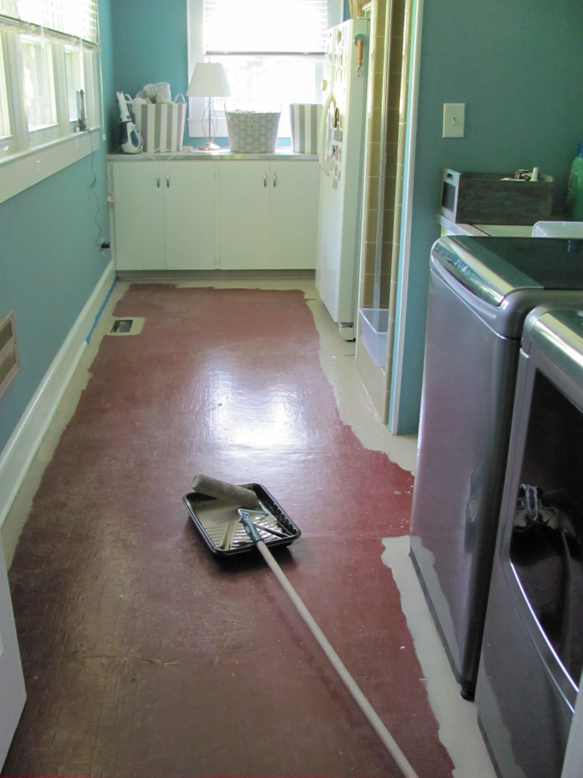 Laundry Room before redesign and organization