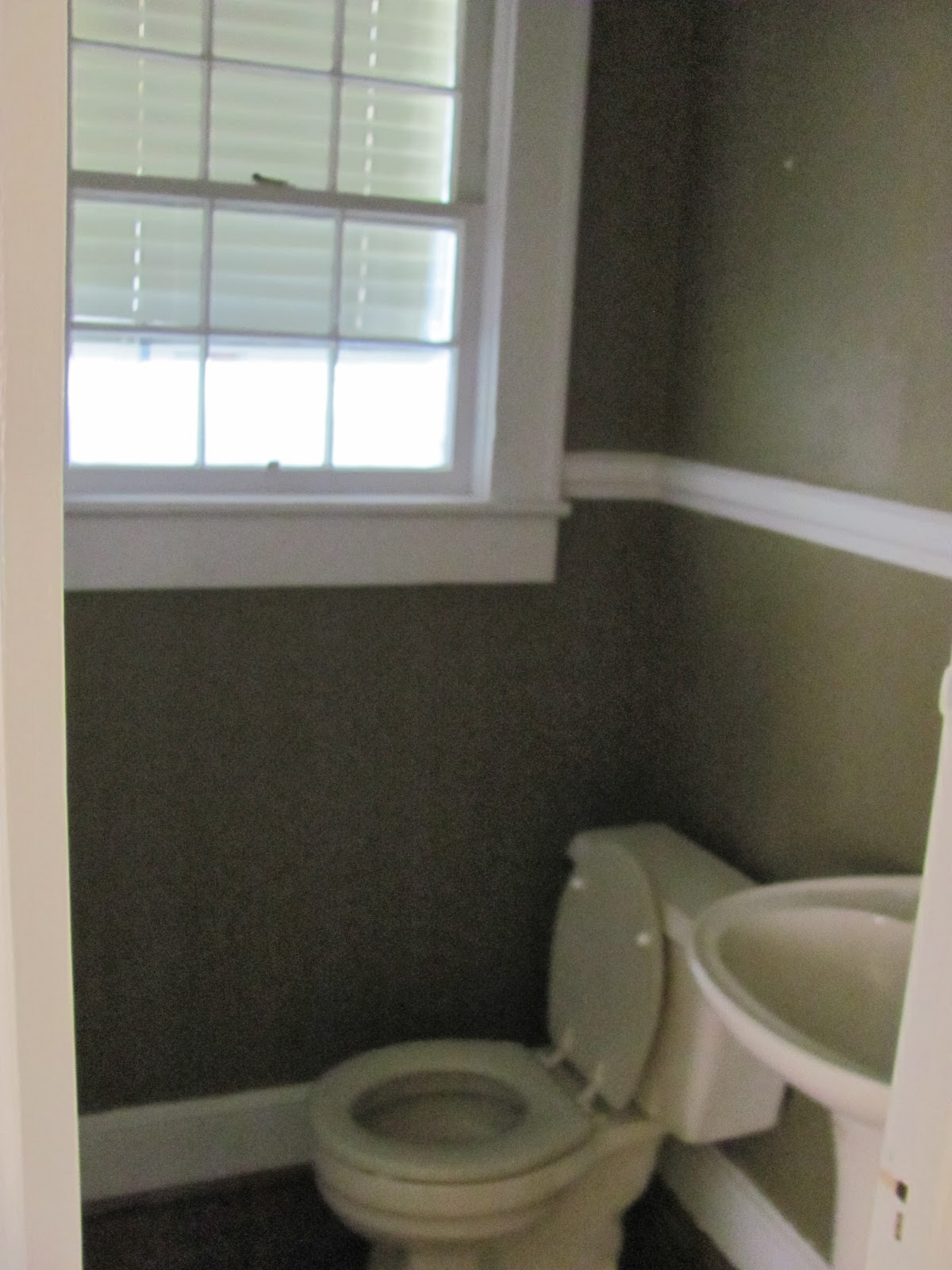 Powder Room before redesign and organization