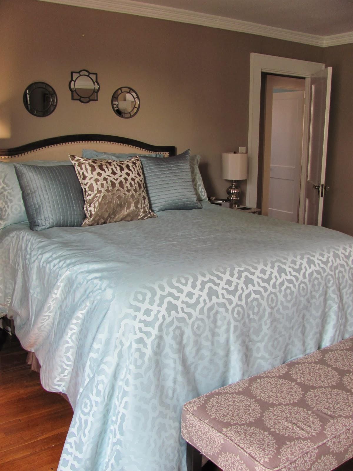 Modern bedroom after redesign by Professional Organizer Kristina Barrett
