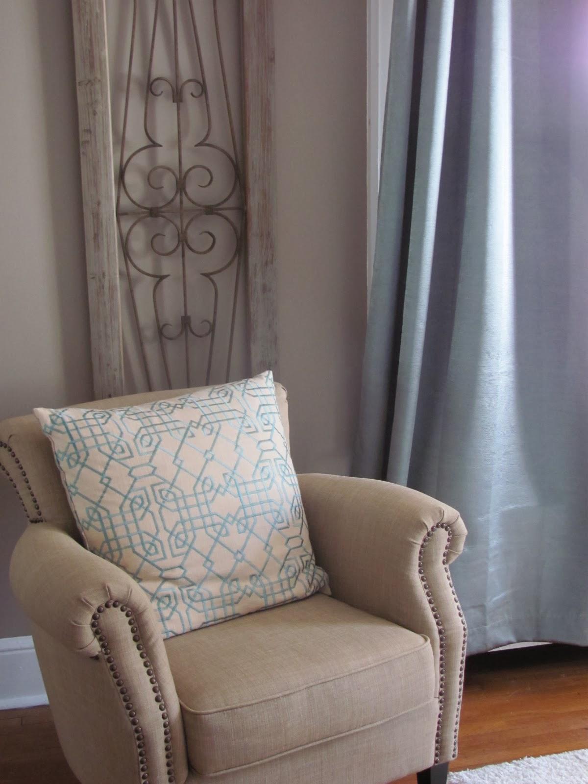 Master Bedroom seating nook after redesign