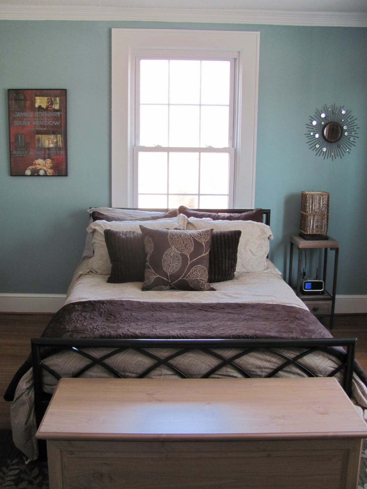 small guest bedroom after organization and redesign