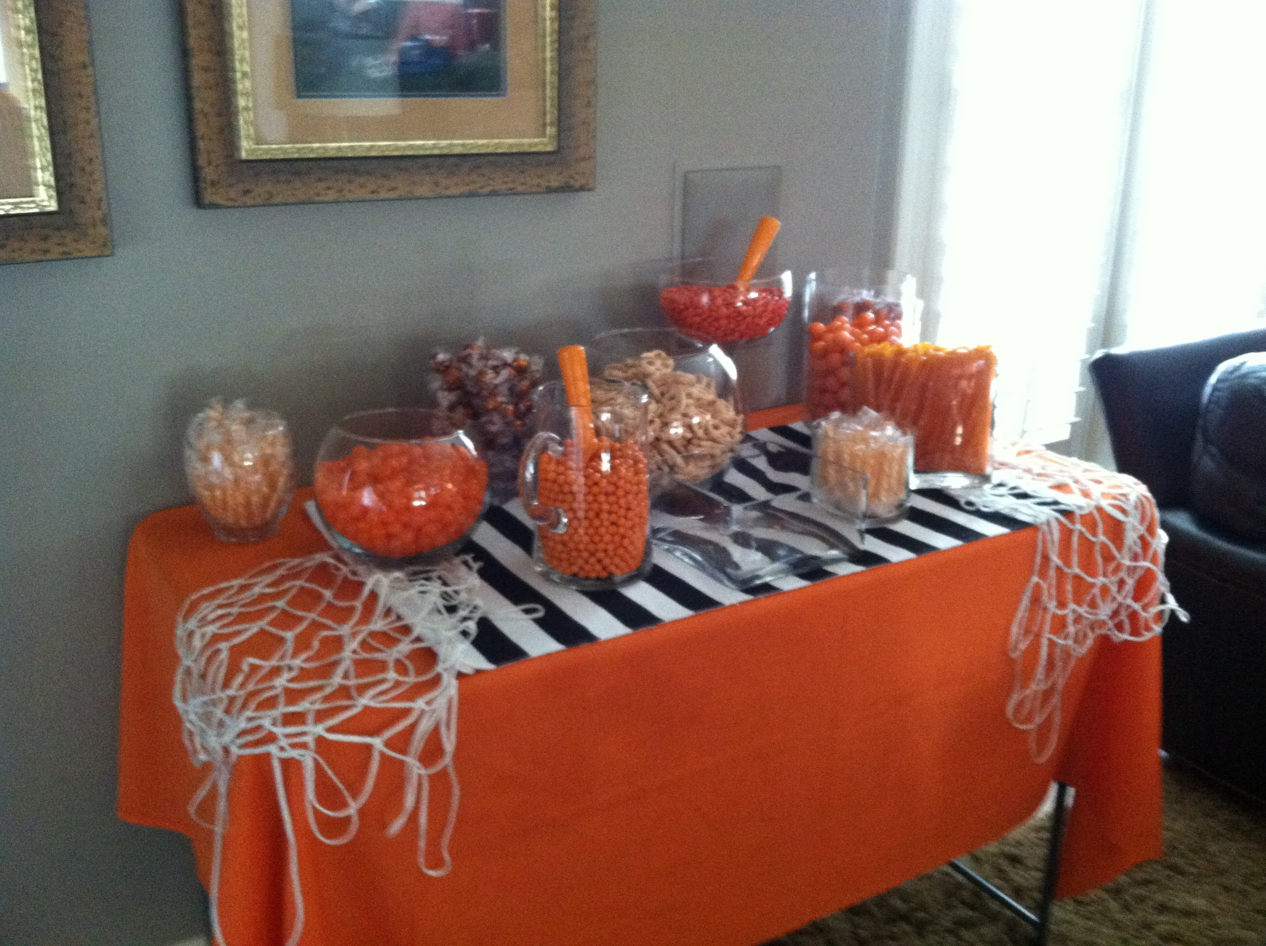 March Madness candy-bar styling Good Egg Organizing