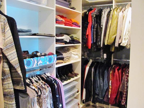 Walk in closet by Good Egg Organizing