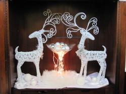 christmas reindeer decor by professional organizer